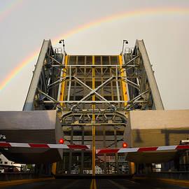 Double Rainbow Mystic Drawbridge by Kirkodd Photography Of New England