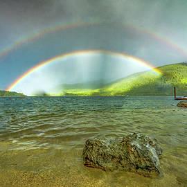 Double Rainbow Over Kootenay Lake