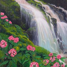 Double Hawaii Waterfall by Mary Deal