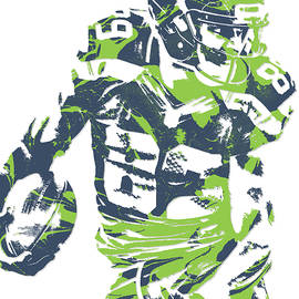 Doug Baldwin SEATTLE SEAHAWKS PIXEL ART 5 - Joe Hamilton