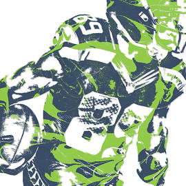 Doug Baldwin SEATTLE SEAHAWKS PIXEL ART 6 - Joe Hamilton