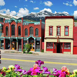 Downtown Breckenridge Colorado And Mountains - Square Format  by Gregory Ballos