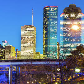 Gregory Ballos - Downtown City Skyline of Houston Texas