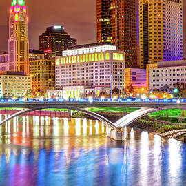 Gregory Ballos - Downtown Columbus Skyline and Bridge