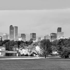 Gregory Ballos - Downtown Denver Skyline - Black and White