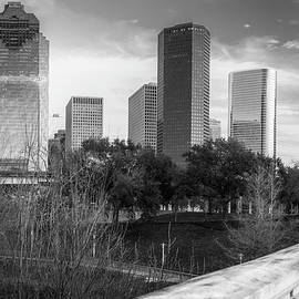 Gregory Ballos - Downtown Houston Texas City Skyline - Black and White