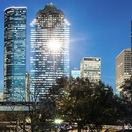 Gregory Ballos - Downtown Houston Texas Skyline and Trees