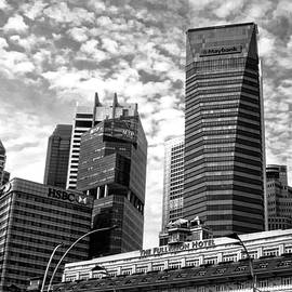 Downtown Singapore Mono by John Hughes