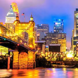 Gregory Ballos - Downtown Skyline of Cincinnati Ohio
