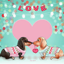 Doxie Valentine's Party by Catia Lee