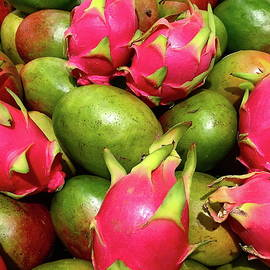 Dragon Fruit And Mangoes by Denise Mazzocco