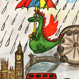 Dragon New Year in England by Irina Afonskaya