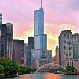 Frozen in Time Fine Art Photography - Dramatic Chicago Sunset