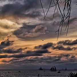 Dramatic December Sunset by Maria Keady