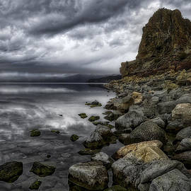 Mitch Shindelbower - Dramatic Sky Over Cave Rock