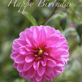 Carol Groenen - Dream Dahlia Birthday Card