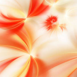 Dreamy Orange And Creamy Abstract by Andee Design