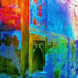 Dreamy Turquoise Abstract Arches Sun Fort Rajasthan India 2j by Sue Jacobi