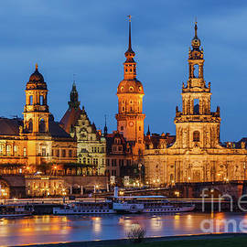 Dresden Cathedral at Twilight by Henk Meijer Photography