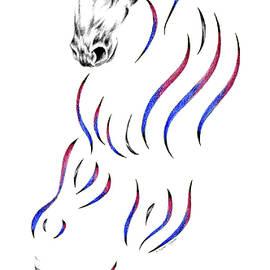 Dressage Horse Dancer Print by Kelli Swan
