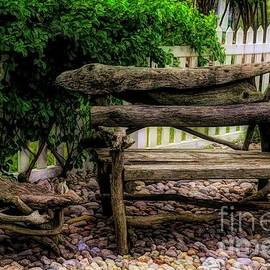 Deborah Brown - Driftwood Bench and Side Table