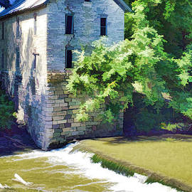 Drinkwater and Schriver Mill Cedar Point Kansas  by L Wright