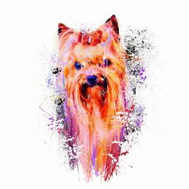 Drippy Jazzy Yorkshire Terrier Colorful Dog Art By Jai Johnson by Jai Johnson