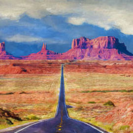 Priscilla Burgers - Driving to Monument Valley
