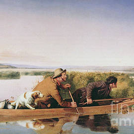 Duck Hunters on the Hoboken Marshes, New Jersey, 1849 - William Tylee Ranney