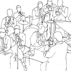 Duke Ellington jazz band ink drawing by Drawspots Illustrations