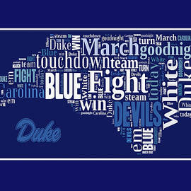 Duke Fight Song Greeting Card by Paulette B Wright