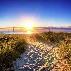 Dune Trail at Sunrise by Debra and Dave Vanderlaan