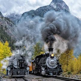 Durango Silverton Trains by Angela Moyer