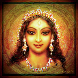 Durga in the Sri Yantra by Ananda Vdovic