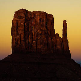 Gregory Ballos - Dusk on the Monument Valley Mitten - Arizona - Utah