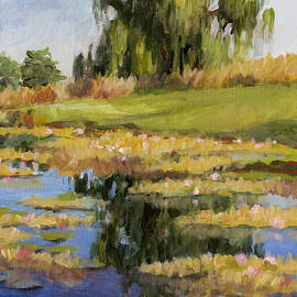 Dusk Over The Pond by L Diane Johnson