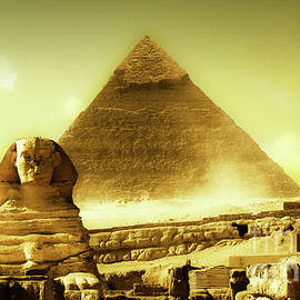 Dust Storm In Giza by Russell Alexander