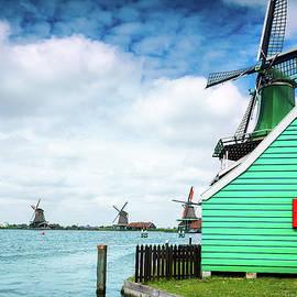 Alfio Finocchiaro - Dutch windmills from Zaanse Schans, Amsterdam, the Netherlands