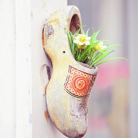 Jenny Rainbow - Dutch Wooden Shoe Floral Decor