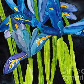 Conni Schaftenaar - Dwarf Iris Watercolor on Yupo
