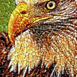 Eagle Quilted Abstract by Alice Gipson