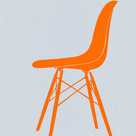 Eames Fiberglass Chair Orange by Naxart Studio