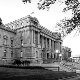Greg Mimbs - Early Morning At The Library of Congress In Black and White