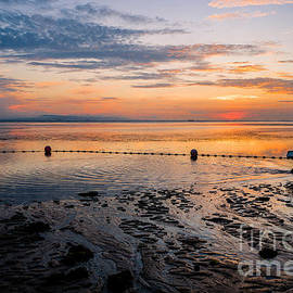 Bali Sunrise Fisherman on Beach by M G Whittingham
