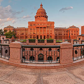 Early Morning Panorama of the Texas State Capitol in Downtown Austin - Texas Hill Country by Silvio Ligutti