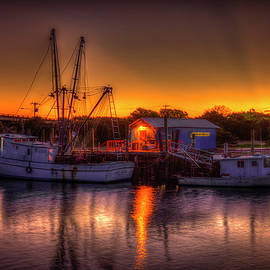Reid Callaway - Early Start Reflections Shrimp Boat Art Tybee Island