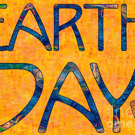 Omaste Witkowski - Earths Transformations Abstract Holiday Greeting Card Artwork by