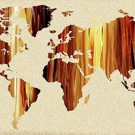 Earthy Glow World Map - Irina Sztukowski