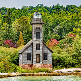 East Channel Lighthouse Grand Island by Jack R Perry