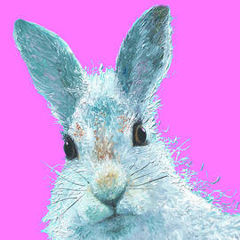 Easter Bunny on Pink by Jan Matson